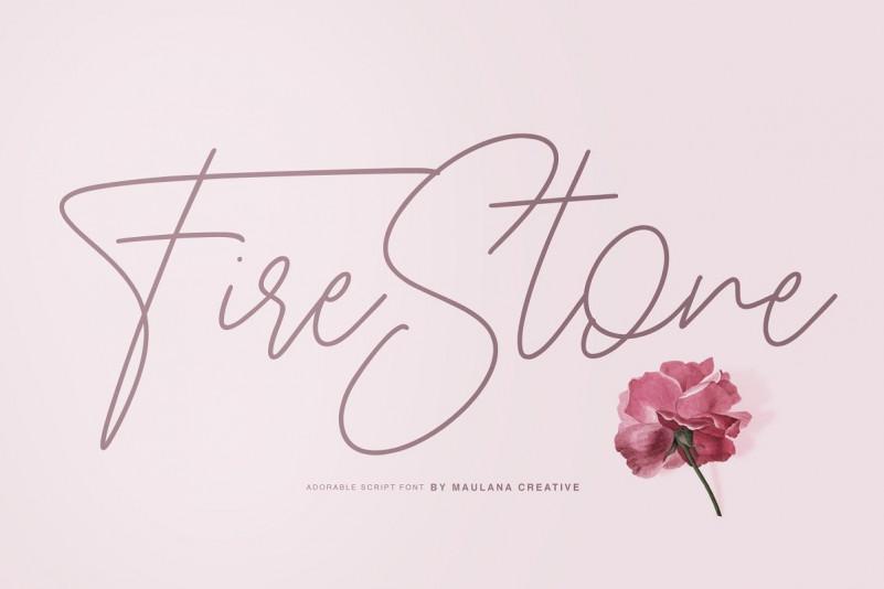 Fire Stone Signature 手写连笔网红签名艺术字体