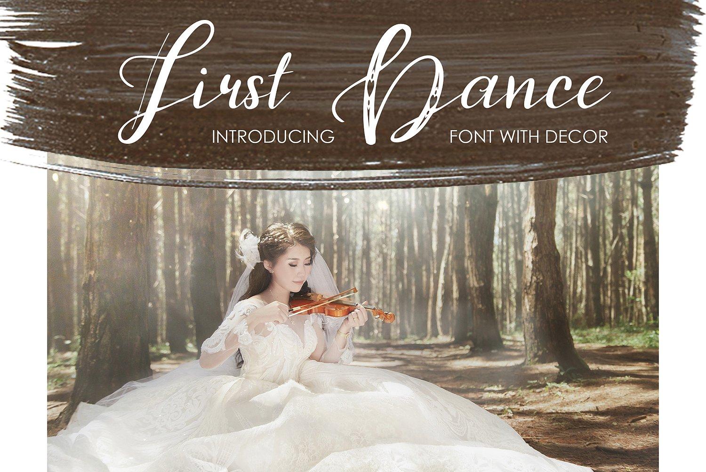 FirstDance艺术乐曲类手写海报英文字体下载