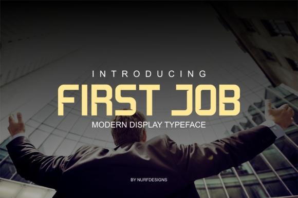 FirstJob现代创意海报简约logo设计英文字体下载