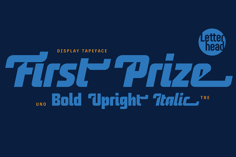 First Prize 创意logo设计英文字体下载