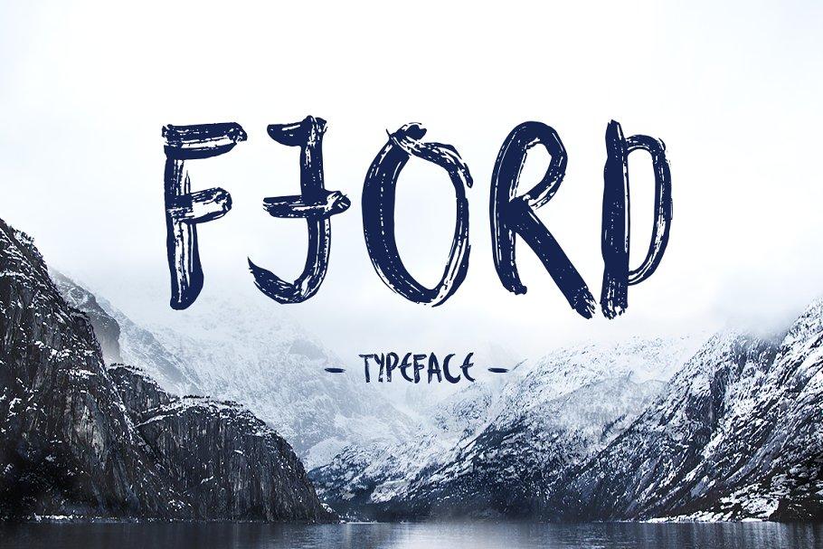 Fjord笔触手写笔刷英文字体下载