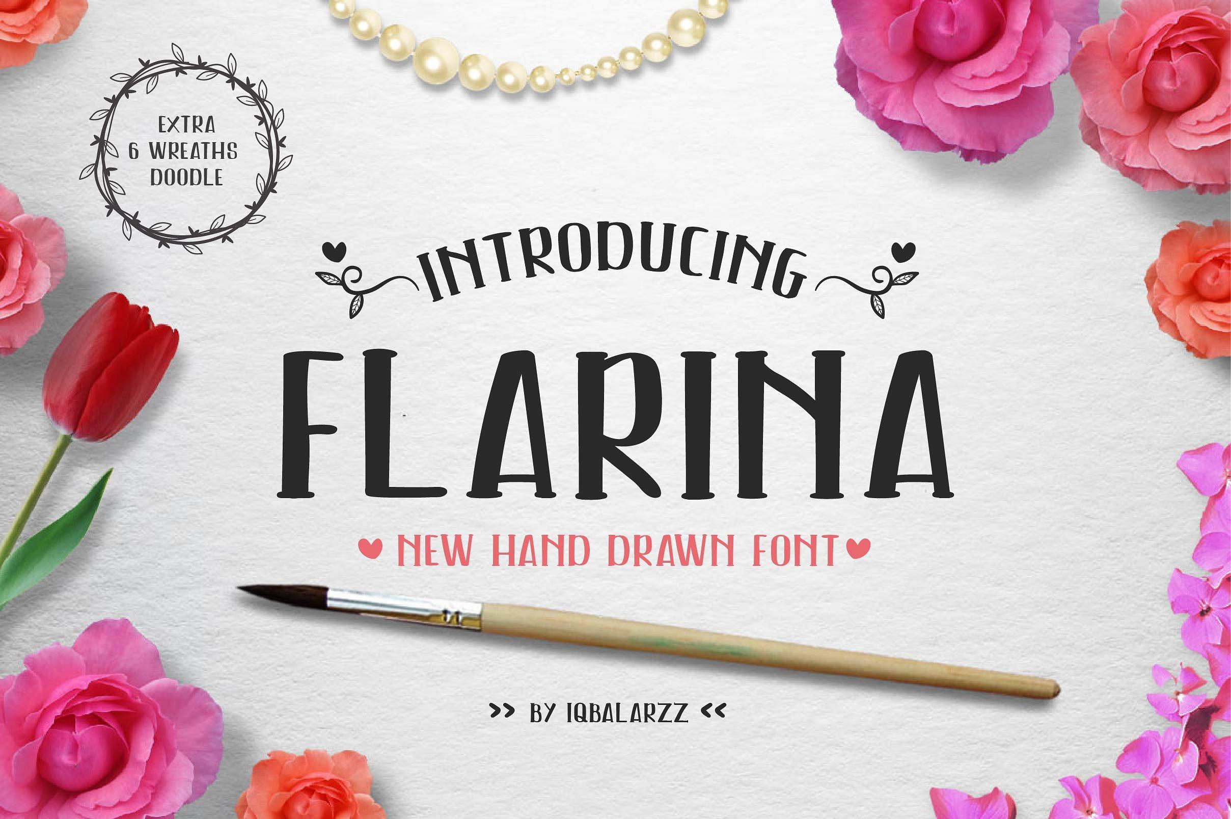 Flarina手写手绘英文字体下载