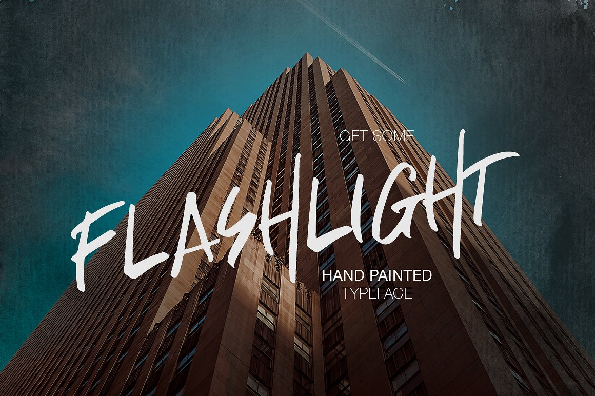 Flashlight帅气手写个性时尚海报英文字体下载