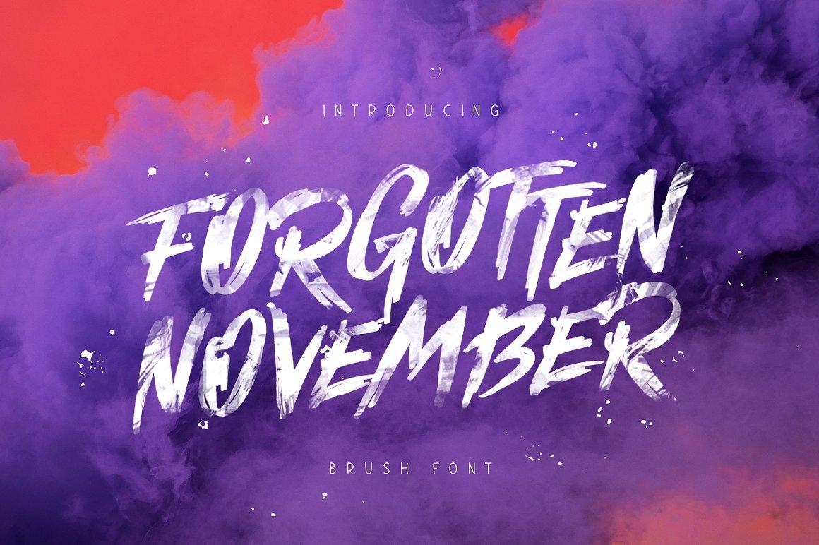 Forgotten November 笔触笔刷街头涂鸦海报英文字体下载