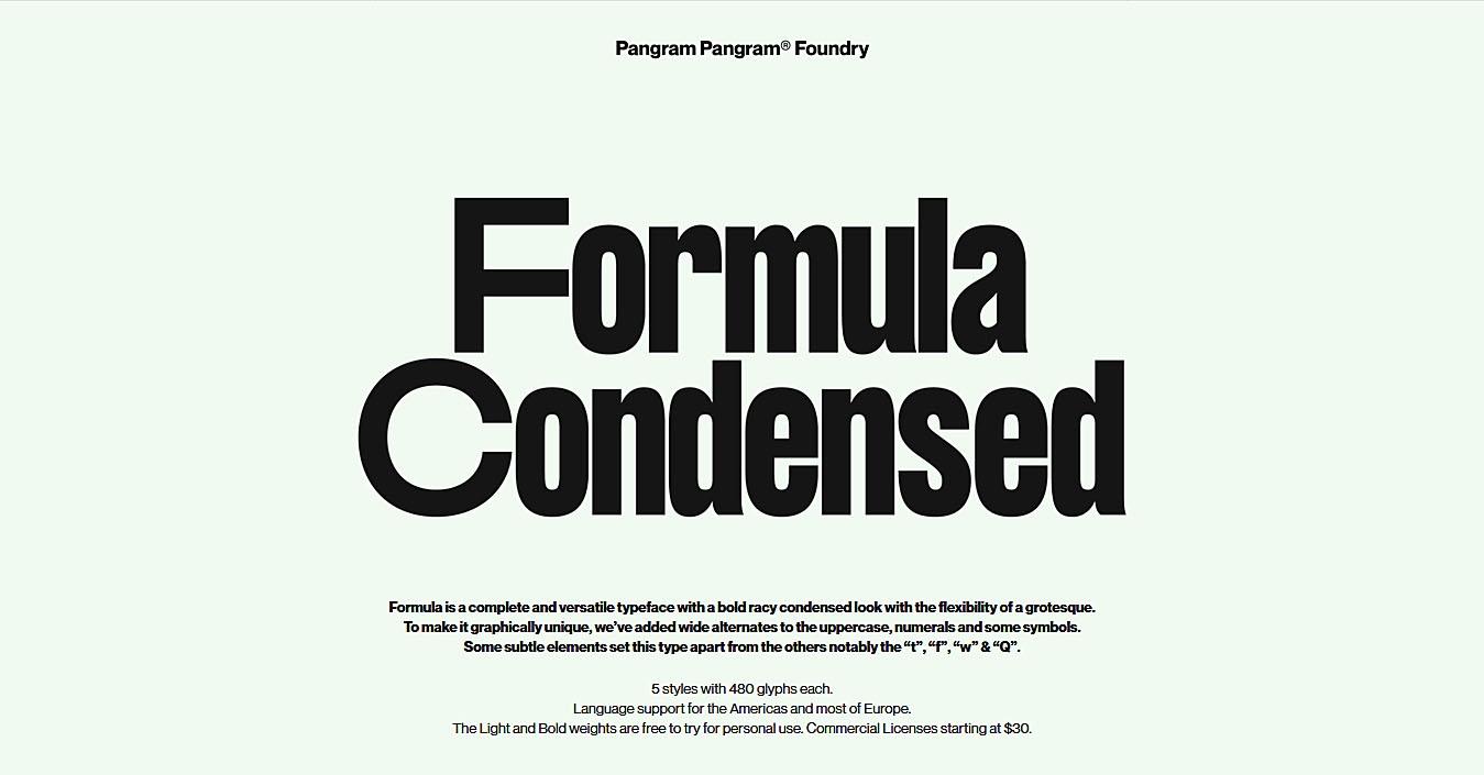 Formula现代排版平面设计师英文字体下载