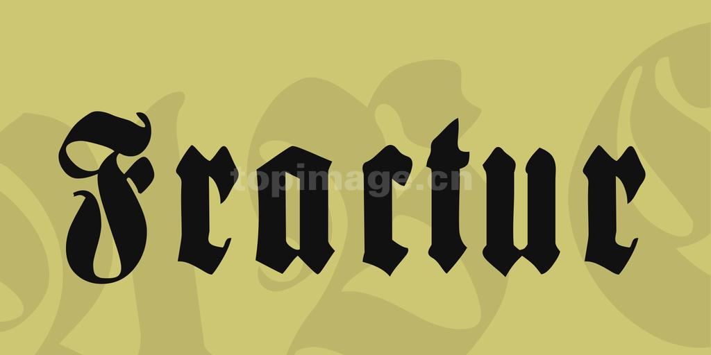 Fractur哥特式个性海报英文字体下载