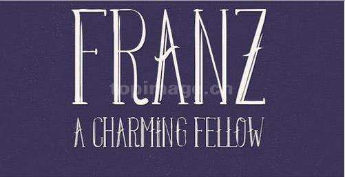 Franz简约纤细个性艺术英文字体下载