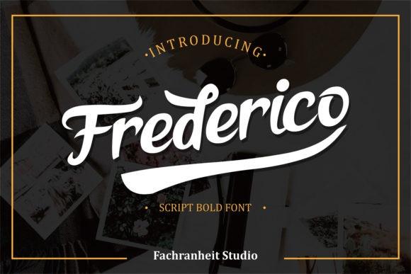 Frederico手写时尚连笔海报英文字体下载
