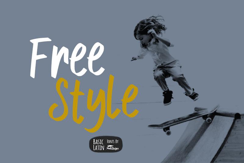 Free Style手写儿童网站海报英文字体下载