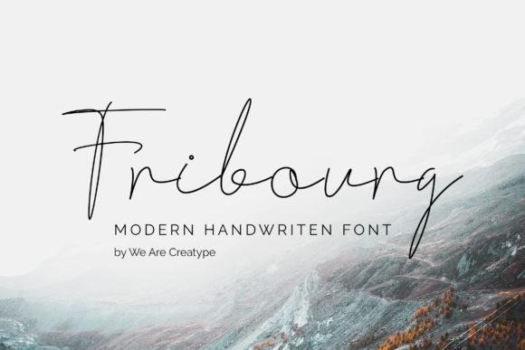 Fribourg现代手写连笔英文字体下载