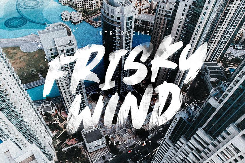 Frisky Wind笔触大气书法英文字体下载