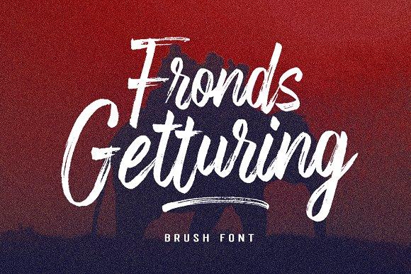Fronds Getturing大气笔刷英文字体下载