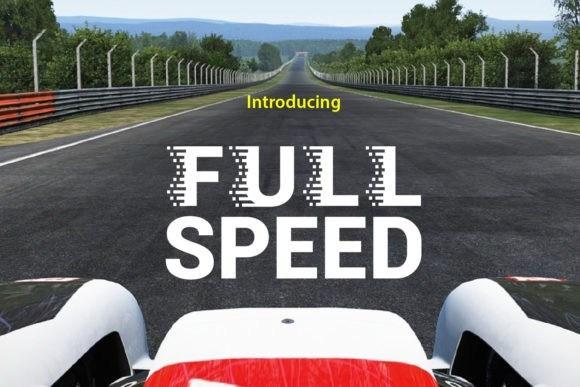 Full Speed创意投影logo设计无衬线英文字体下载