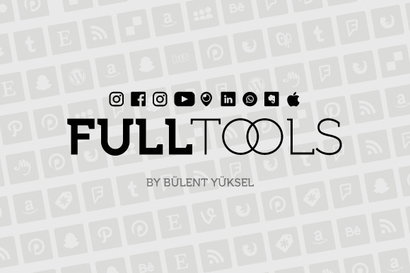 Full Tools 现代设计个性logo英文字体下载