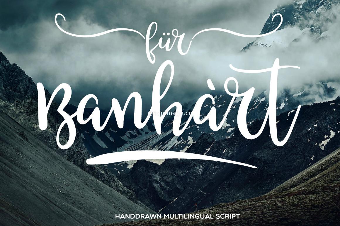 FurBanhart大气摄影海报手写笔刷英文字体下载
