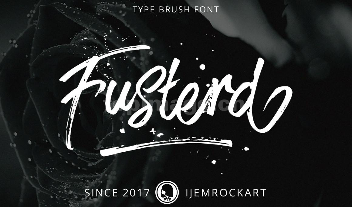 Fusterd破损手写大气复古毛笔笔刷英文字体下载