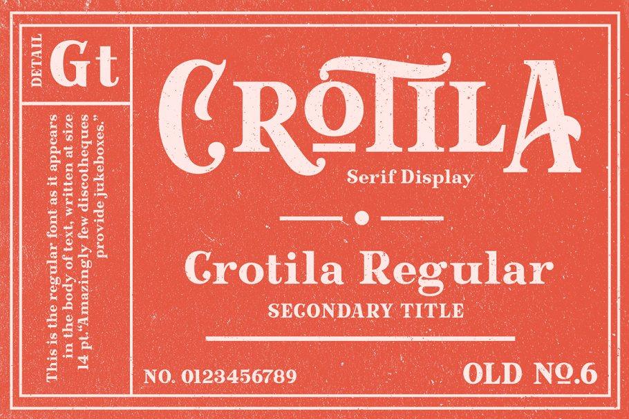 GTCrotilaDisplay衬线复古传统logo老式英文字体下载
