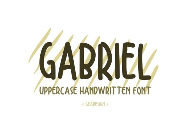 Gabriel手写手绘卡通英文字体下载