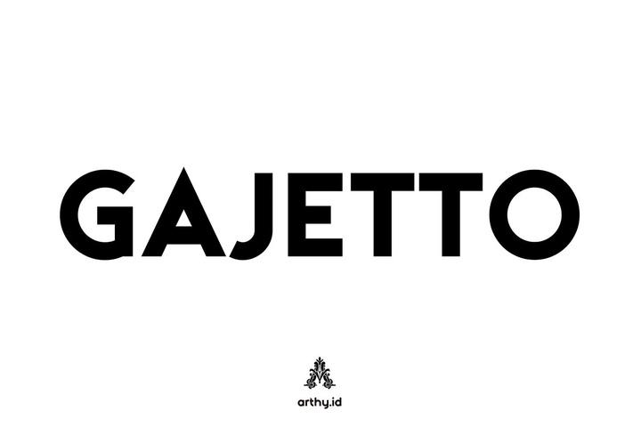 Gajetto无衬线现代品牌logo设计英文字体下载