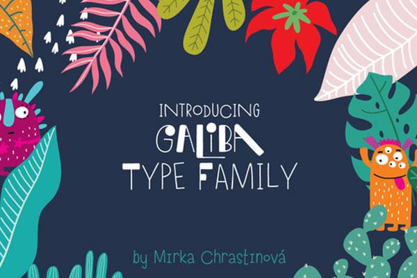 Galiba Family时尚手绘逗趣手写英文字体下载
