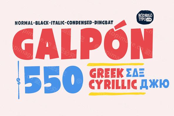 Galpon现代卡通个性创意简约英文字体下载