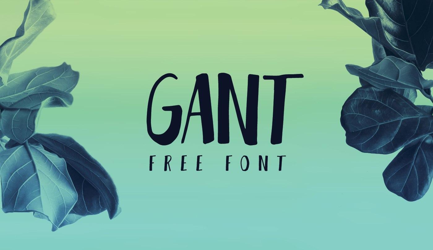 Gant手写手绘连笔文艺英文字体下载