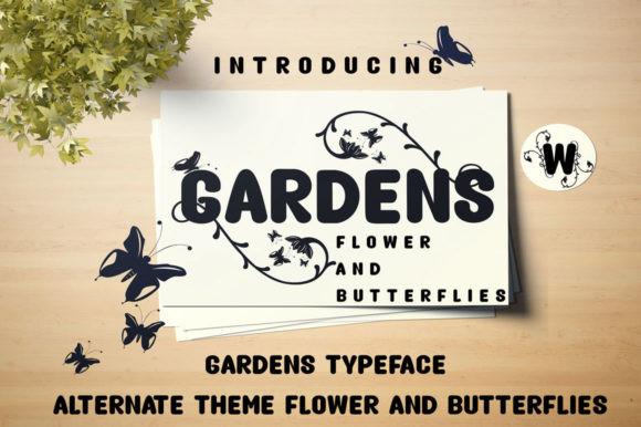 Gardens手写手绘粗英文字体下载