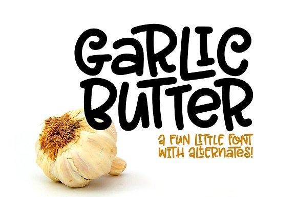 Garlic Butter可爱英文字体下载