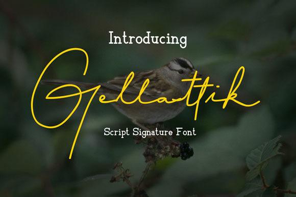 Gellattik帅气手写连笔英文字体下载