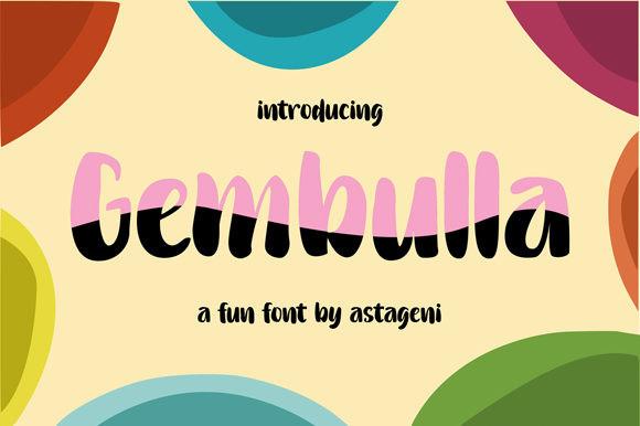 Gembulla手写个性有趣英文字体下载