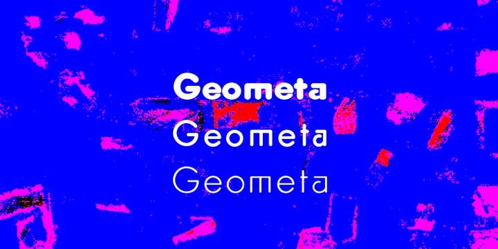 GeometaRounded现代圆润简洁logo英文字体下载