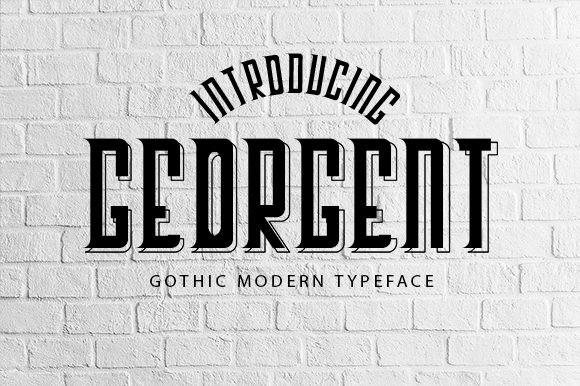 Georgent哥特式logo英文字体下载