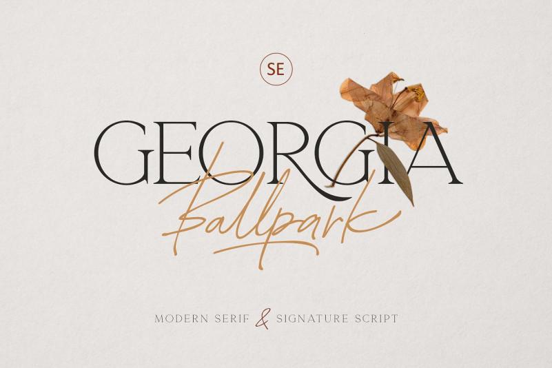 Georgia Ballpark精致纤细衬线&手写英文字体下载