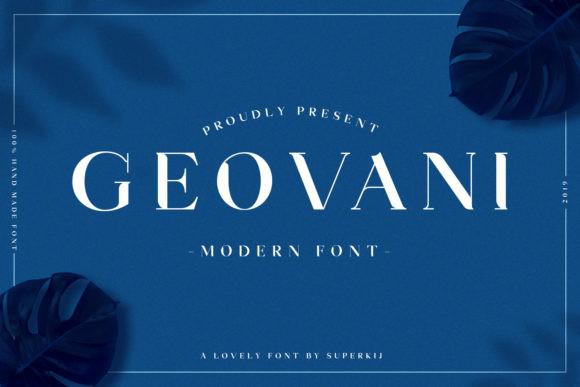 Geovani衬线设计经典logo英文字体下载