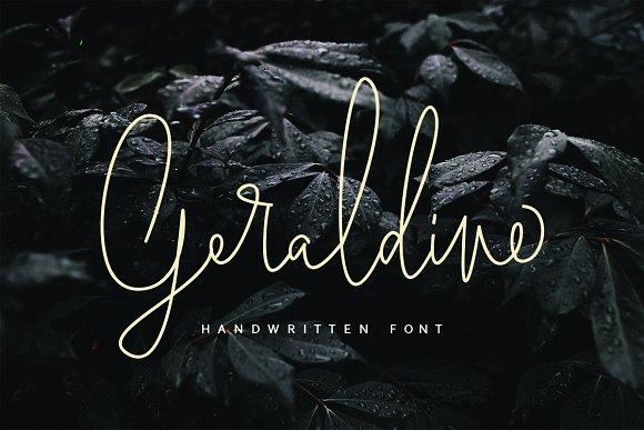 Geraldine连笔极细线条手写英文字体下载