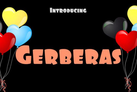 Gerberas个性手写卡通英文字体下载