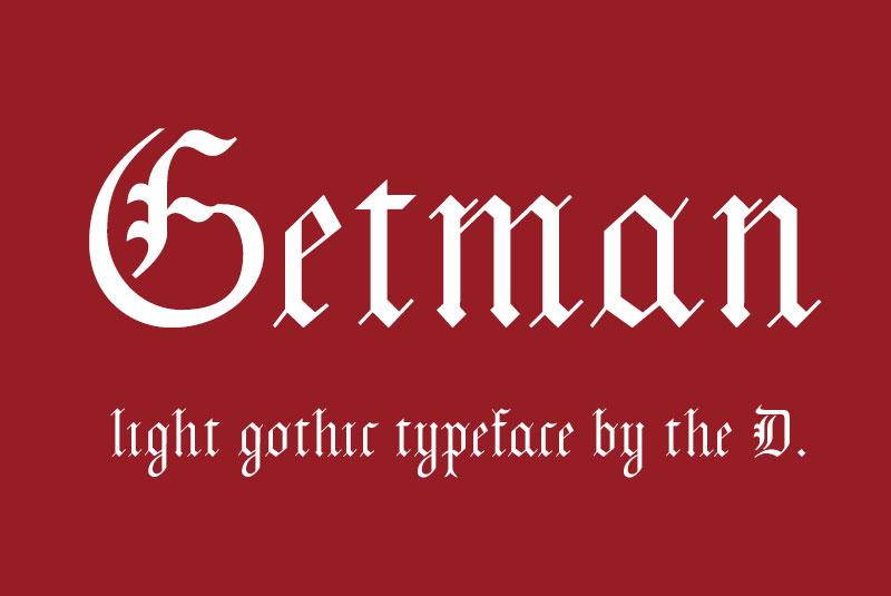Getman哥特英文字体下载