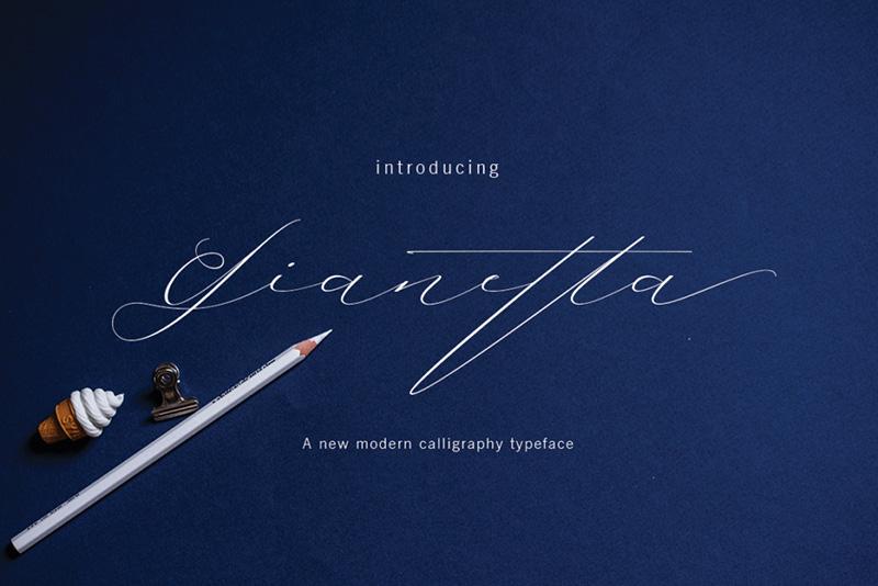 Gianetta个性艺术签名手写大气英文字体下载
