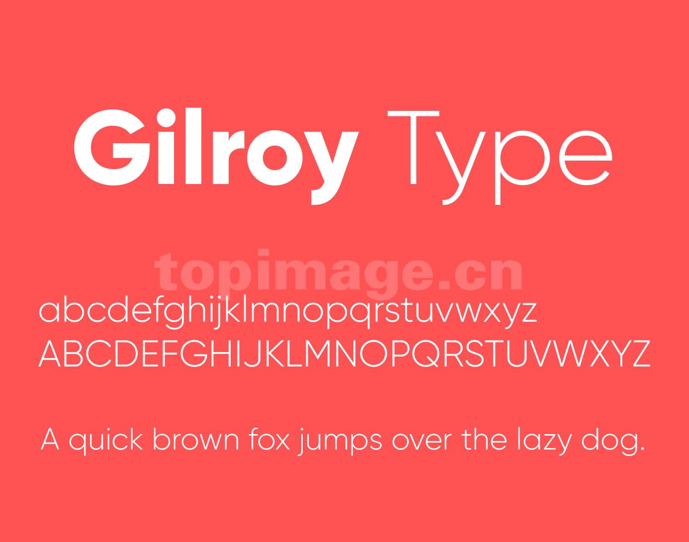 Gilroy 纤细 无衬线 现代简约 logo英文字体下载