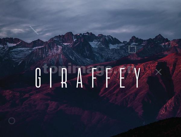 Giraffey现代简洁纤细海报英文字体下载