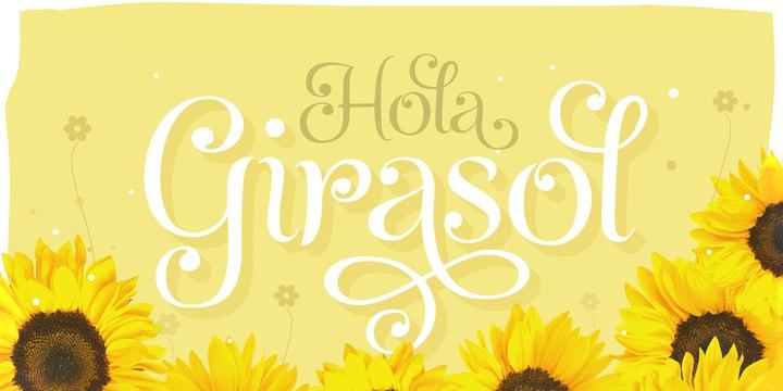 Girasol婚礼花体唯美英文字体下载