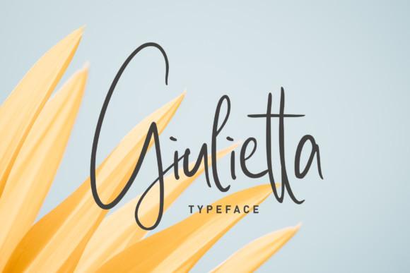 Giulietta手写连笔大气签名英文字体下载