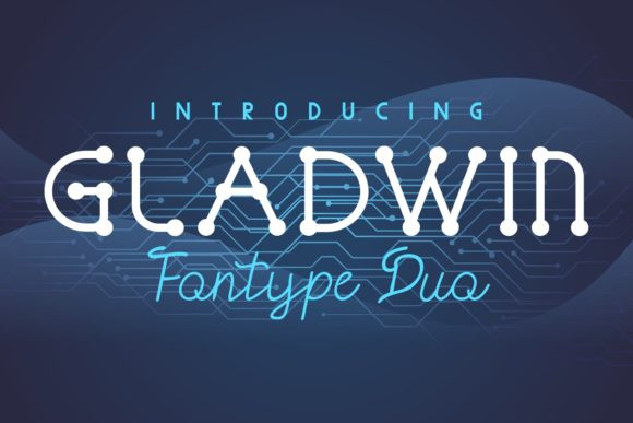 Gladwin个性设计dna螺旋科技英文字体下载
