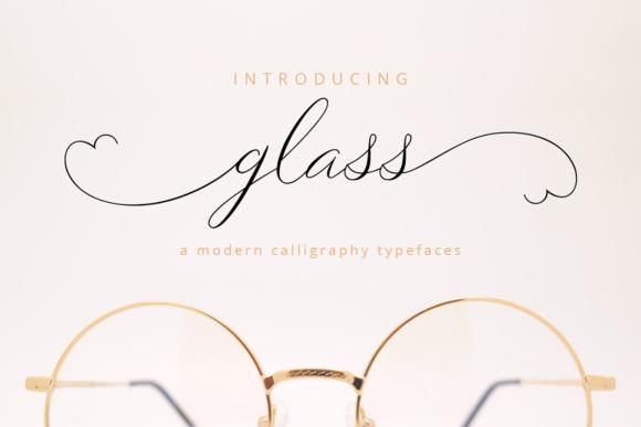 Glass连笔手写花体签名英文字体下载