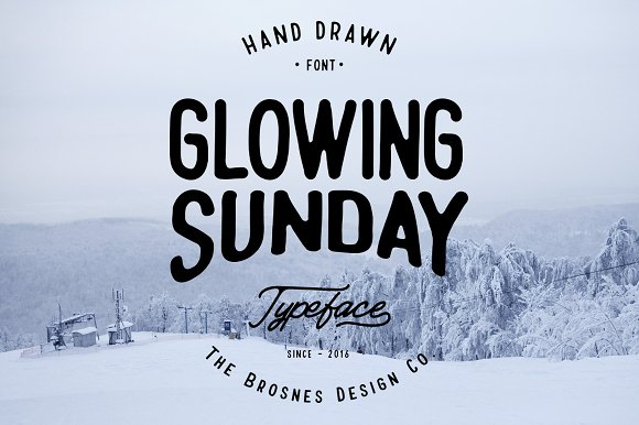 Glowing Sunday手写手绘卡通英文字体下载