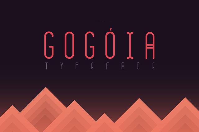 Gogoia扁平化海报logo英文字体下载