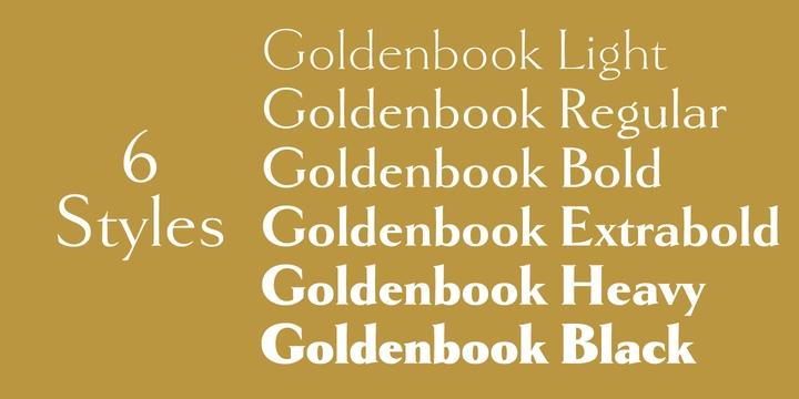 Goldenbook衬线经典美式英文字体下载