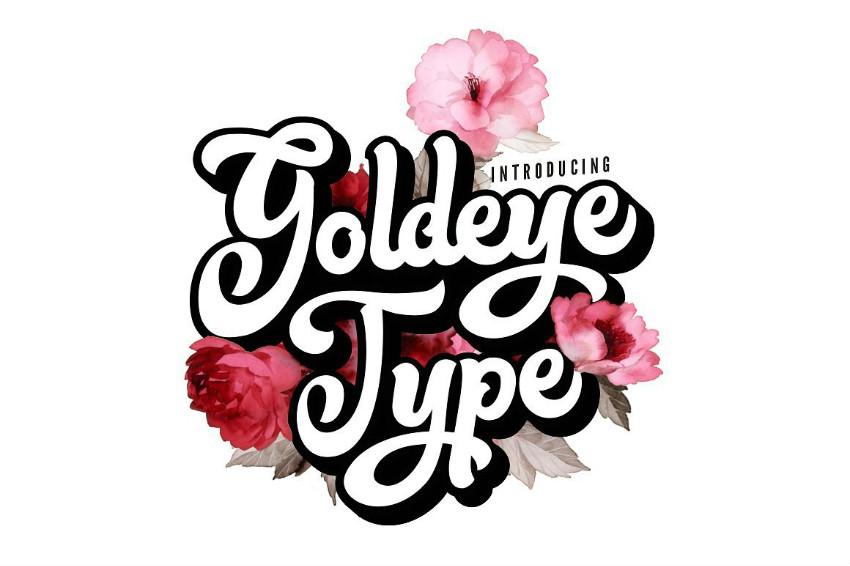 Goldeye手写花体潮流服装英文字体下载