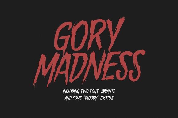 GoryMadness街头涂鸦个性手写英文字体下载