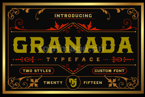 Granada复古个性化游戏艺术英文字体下载